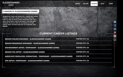 Screenshot of Jobs Page sledgehammergames.com - Sledgehammer Games || Careers - captured Sept. 23, 2014