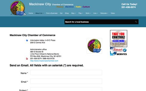Screenshot of Contact Page mackinawchamber.com - Mackinaw Chamber - contact-us - captured Feb. 2, 2016