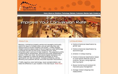 Screenshot of Home Page i-traffix.com - i-Traffix - captured Oct. 6, 2014