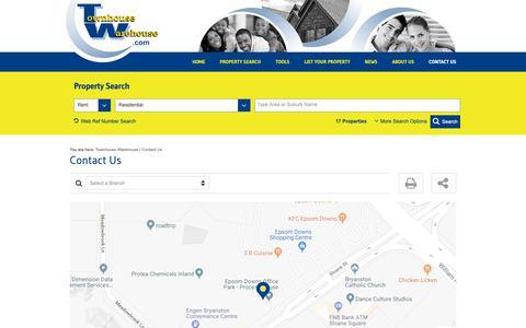 Screenshot of Contact Page townhousewarehouse.com - Contact Us | Townhouse Warehouse - captured Oct. 23, 2018