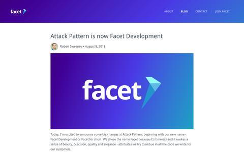 Screenshot of Blog facetdev.com - Facet Blog | Engineering, Startups and Technology - captured Sept. 28, 2018