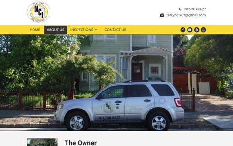 Screenshot of About Page nci707.com - North Coast Inspection Services - Home Inspectors - captured Nov. 15, 2018