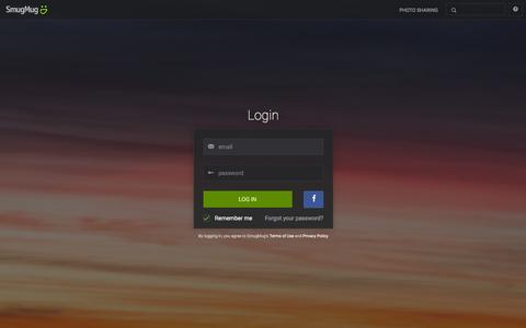 Screenshot of Login Page smugmug.com - Photo Sharing. Your Photos Look Better Here. - captured Feb. 27, 2016