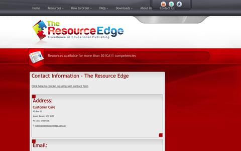 Screenshot of Maps & Directions Page theresourceedge.com.au - Contact Us - captured Oct. 6, 2014