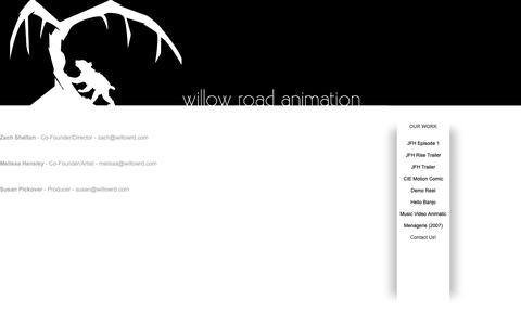 Screenshot of Contact Page squarespace.com - Willow Road - Contact Us! - captured Oct. 25, 2018