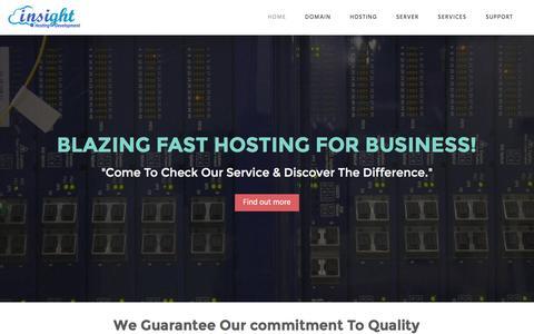Screenshot of Home Page hostwebspaces.com - SSD Reseller Hosting|LiteSpeed Cloud Hosting|VPS Server - captured Feb. 2, 2016