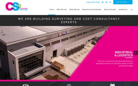 Screenshot of Home Page cs2.co.uk - Home - CS2 Chartered Surveyors - captured July 14, 2018