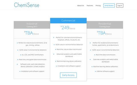 Screenshot of Pricing Page chemisense.co - Pricing | ChemiSense - captured Dec. 6, 2016
