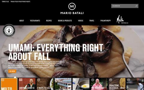 Screenshot of Home Page mariobatali.com - Mario Batali - captured Sept. 23, 2014
