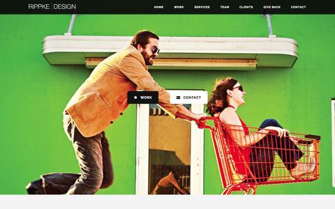 Screenshot of Home Page rippkedesign.com - Web Design & Graphic Design Ames, IA | Rippke DesignRippke Design | Graphic Design + Web Design & Development - captured Aug. 12, 2015