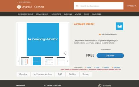 Campaign Monitor - Magento Connect