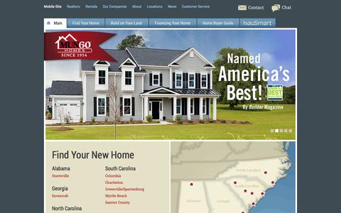 Screenshot of Home Page mungo.com - Columbia, Charleston SC, Raleigh NC, Huntsville AL New Homes for Sale | Mungo - captured Sept. 18, 2014