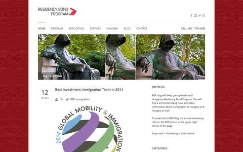 Screenshot of Blog residency-bond.eu - Residency Bond Program Blog :: February 2014 :: - captured Sept. 24, 2014