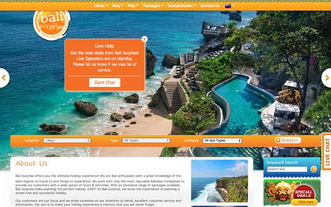 Screenshot of About Page balisurprise.com - About us   Bali Tours   Bali Travel - captured Aug. 1, 2018