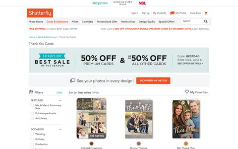 Thank You Cards | Personalized Thank You Notes | Shutterfly