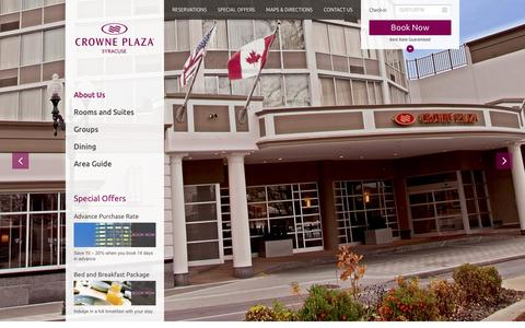 Screenshot of Services Page cpsyracuse.com - Syracuse Lodging | Syracuse NY | Crowne Plaza Syracuse - captured Feb. 1, 2016
