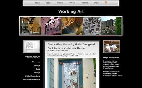 Screenshot of Home Page working-art.com - Working Art - captured Oct. 7, 2014
