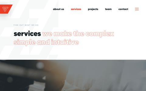 Screenshot of Services Page voxteneo.com - Services | Vox Teneo - captured Oct. 10, 2019