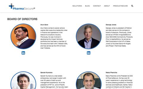 Screenshot of Team Page pharmasecure.com - Board Of Directors – Anti-Counterfeiting, Identification, and Brand Protection Solutions - captured Sept. 19, 2019