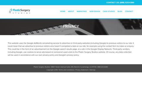 Privacy   Plastic Surgery Studios