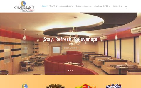 Screenshot of Home Page chairmansresort.com - Look No Further - The Best Resort in Bengaluru North | Chairman's Resort - captured Sept. 22, 2018