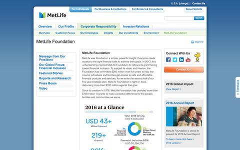 MetLife Foundation | Metlife