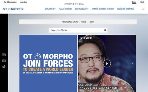 Screenshot of Press Page morpho.com - Media | OT-Morpho in the USA - captured June 13, 2017
