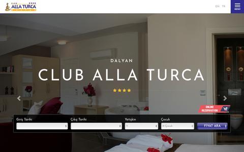 Screenshot of Home Page cluballaturca.com - Club Alla Turca - captured Oct. 27, 2018