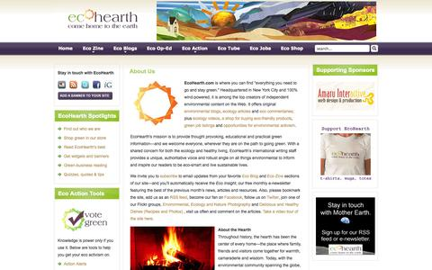 Screenshot of About Page ecohearth.com - EcoHearth - About Us - captured Sept. 30, 2014