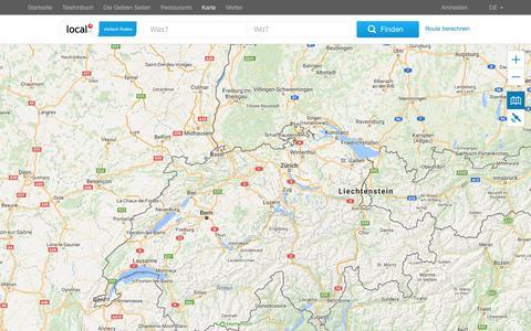 Screenshot of Maps & Directions Page local.ch - Schweizer Landkarte von local.ch - captured Jan. 23, 2017