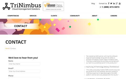 Contact TriNimbus