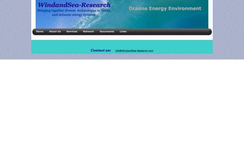 Screenshot of Services Page windandsea-research.com - Oil & Gas, WindandSea-Research Services - captured Aug. 18, 2016