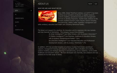 Screenshot of About Page globaltti.com - About Us - captured Oct. 22, 2014