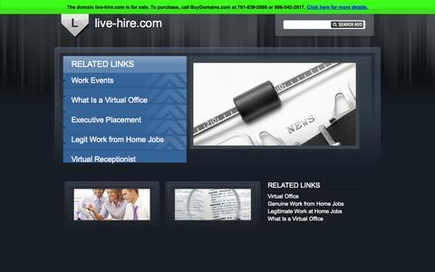 Screenshot of Home Page live-hire.com - live-hire.com - captured July 24, 2015