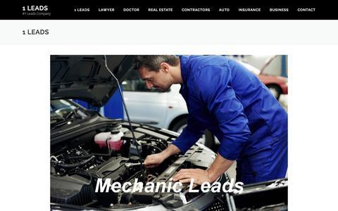 Screenshot of Home Page 1leads.com - 1 Leads  The #1 Leads Company - captured Nov. 28, 2016
