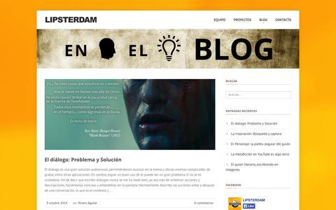 Screenshot of Blog lipsterdam.com - LIPSTERDAM   – Blog - captured Oct. 9, 2014