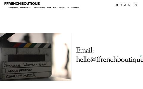 Screenshot of Contact Page ffrenchboutique.co.uk - CONTACT – ffrench boutique - captured July 5, 2017