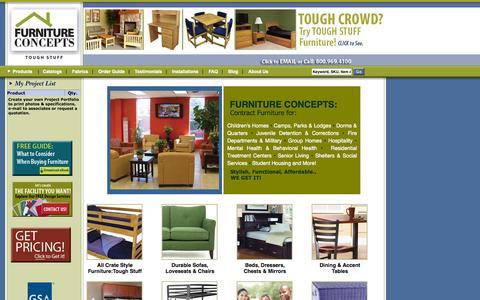 Screenshot of Home Page furnitureconcepts.com - Furniture Concepts |               Contract Furniture with the Look & Feel of Home! - captured Sept. 30, 2014