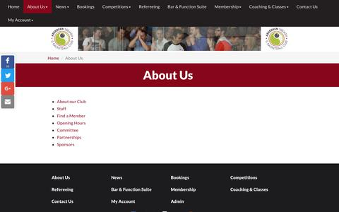 Screenshot of About Page asrc.co.uk - About Us   Aberdeen Squash & Racketball Club - captured Oct. 2, 2018