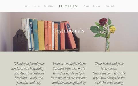 Screenshot of Testimonials Page loyton.com - Testimonials — Loyton - captured Sept. 30, 2018