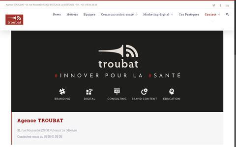 Screenshot of Contact Page troubat.com - Contact - TROUBAT - captured Sept. 29, 2018