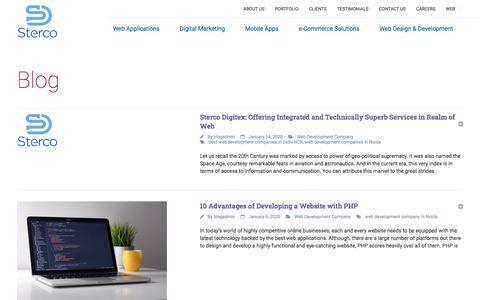Screenshot of Blog stercodigitex.com - SEO, Website Designing & Development Company In Delhi NCR   - captured Jan. 17, 2020