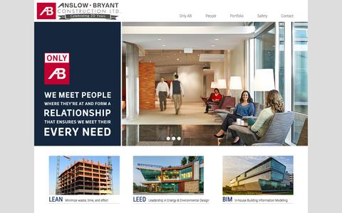 Screenshot of Home Page anslowbryant.com - Welcome | Anslow Bryant Construction, LTD. - captured Feb. 6, 2016