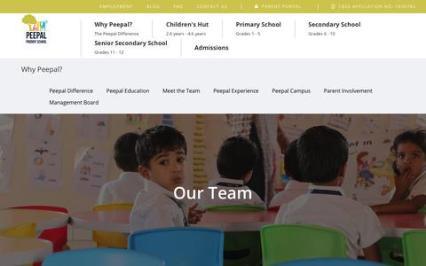 Screenshot of Team Page peepalprodigy.com - CBSE schools in Coimbatore | Preparing Child for the Real World - captured Sept. 27, 2018