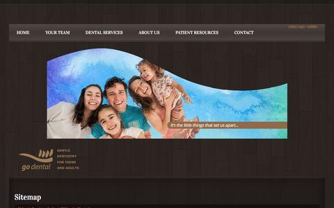 Screenshot of Site Map Page thedentist.com - Sitemap - Go Dental Valencia, CA - Valencia DentistValencia Dentist – Go Dental Valencia, CA - captured Jan. 30, 2016