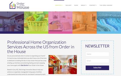 Screenshot of Services Page orderinthehouse.com - Home Organization in NC & US | Professional Organizer - captured Jan. 11, 2016