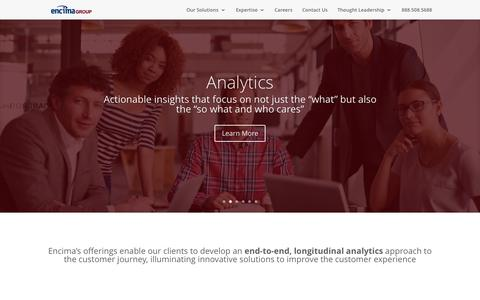 Screenshot of Home Page encimagroup.com - Encima Group | Better data, better insights and better results to improve the customer experience - captured Nov. 18, 2015