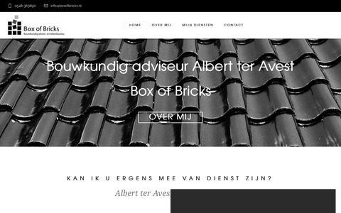 Screenshot of Home Page boxofbricks.nl - Box Of Bricks - captured Oct. 6, 2018