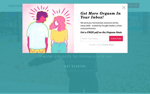 Screenshot of Home Page onetaste.us - OneTaste | Philosophy for the OMLife - captured July 8, 2017