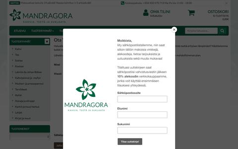 Screenshot of Contact Page mandragora.fi - Mandragora - captured July 27, 2018